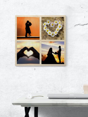 30cm Square Montage Wooden Wall Art