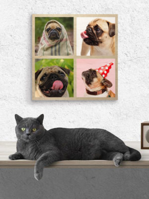 40cm Square Montage Wooden Wall Art