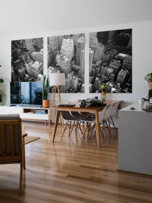 Huge Tiled Rectangular Wooden Wall Art