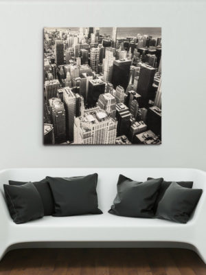 122cm Square Wooden Wall Art