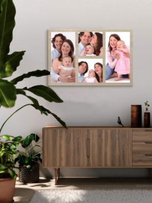 60cm x 40cm Montage Wooden Wall Art