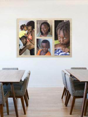 81cm x 60cm Montage Wooden Wall Art