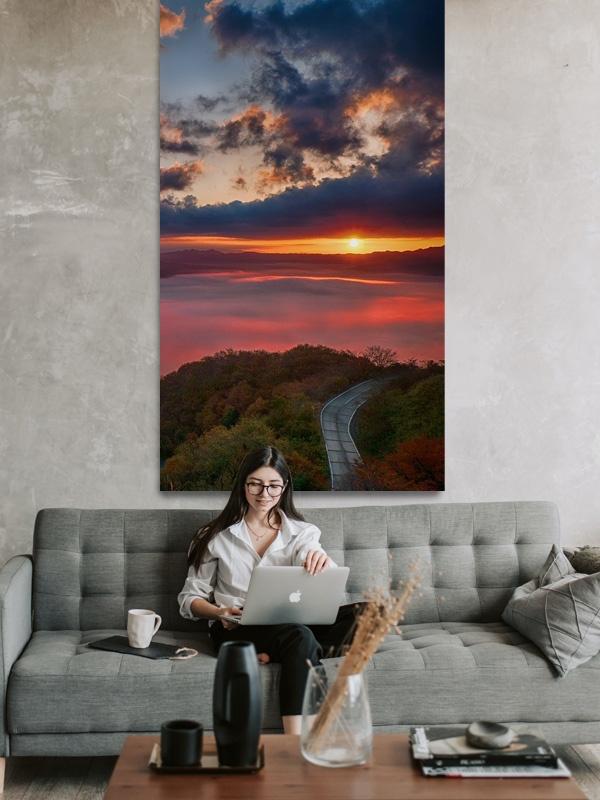 Extra Large Birch Wall Art Portrait